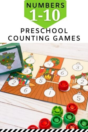 Preschool Christmas Counting Game Printable Free