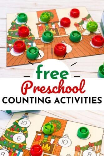 Preschool Christmas Counting Game Printable Free