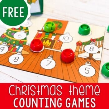 Christmas Themed count and cover game