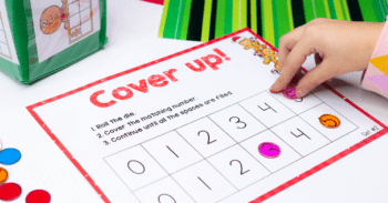 3 Free printable Christmas math games for counting to 5 with preschoolers.