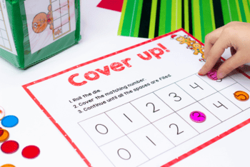 Christmas themed gingerbread math games for preschoolers