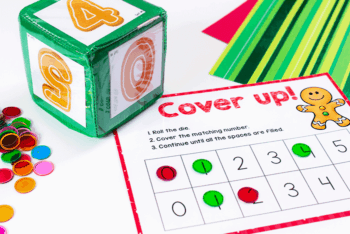 Christmas themed math games for preschoolers identifying numbers up to 5