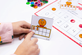 3 Christmas themed free printable math games for preschool