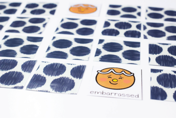 gingerbread emotions memory match printable card game for preschoolers or play therapy