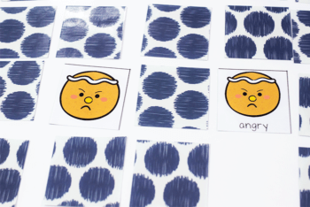 gingerbread emotions memory match printable game for kids