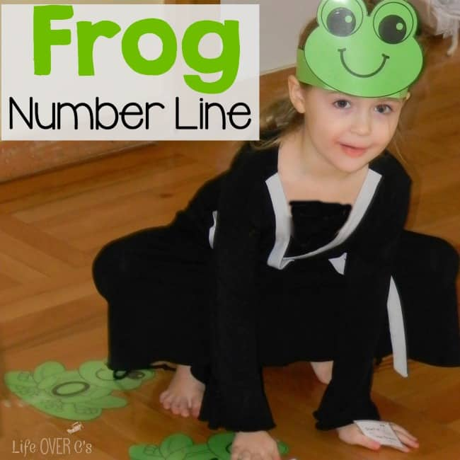 This frog number line is such a fun way to review numbers and learn about addition and subtraction with kindergarteners!