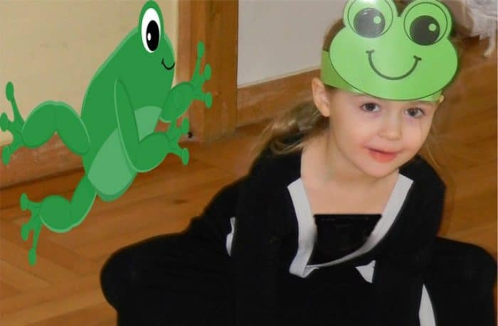 Frog number lines