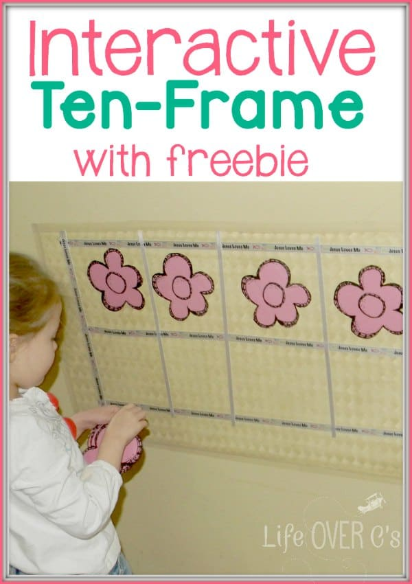 ten frame and number bond freebie