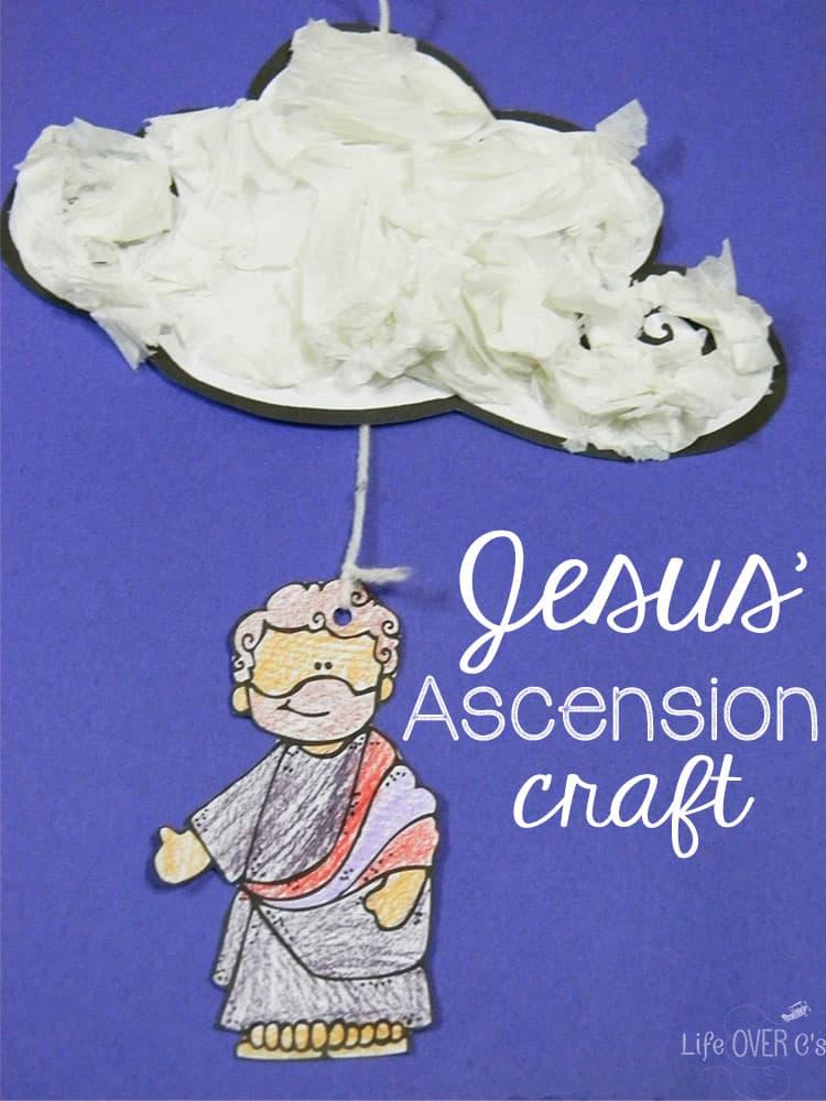 Jesus' Ascension printable craft for kids