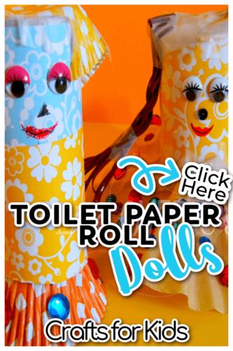 Easy DIY Toilet Paper Roll Dolls Crafts for Kids