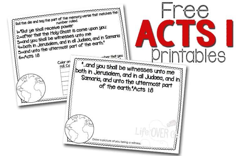 FREE Jesus' Ascension Craft and Scripture Printables