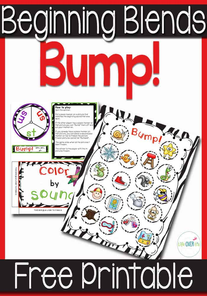 This free beginning blends BUMP game is a fun way to learn about blends! Great practice and super fun!