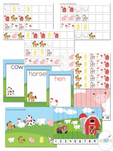 This interactive farm scenery mega pack has so many activities for preschoolers!
