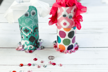 The finished Doll Toilet Paper Roll Crafts for Kids.