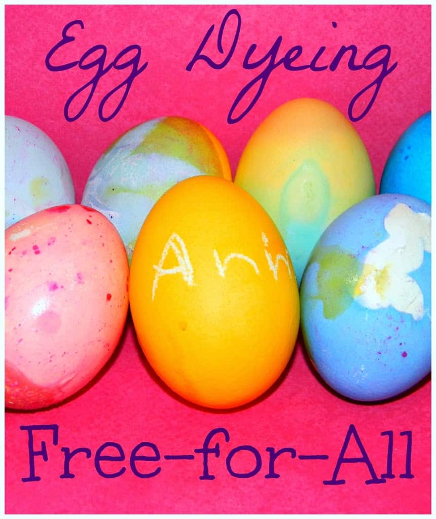 Easter egg dyeing for real families