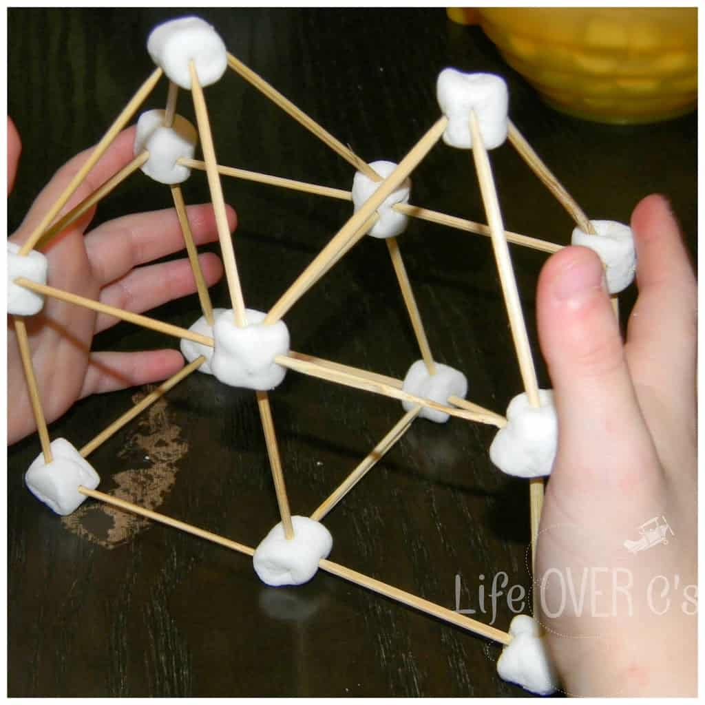 marshmallow and toothpick STEM project