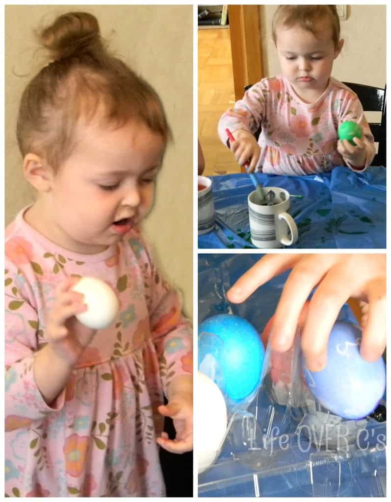 Dyeing Easter eggs without a master plan.