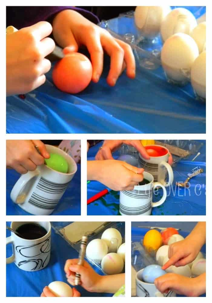 Dyeing eggs without a master plan.