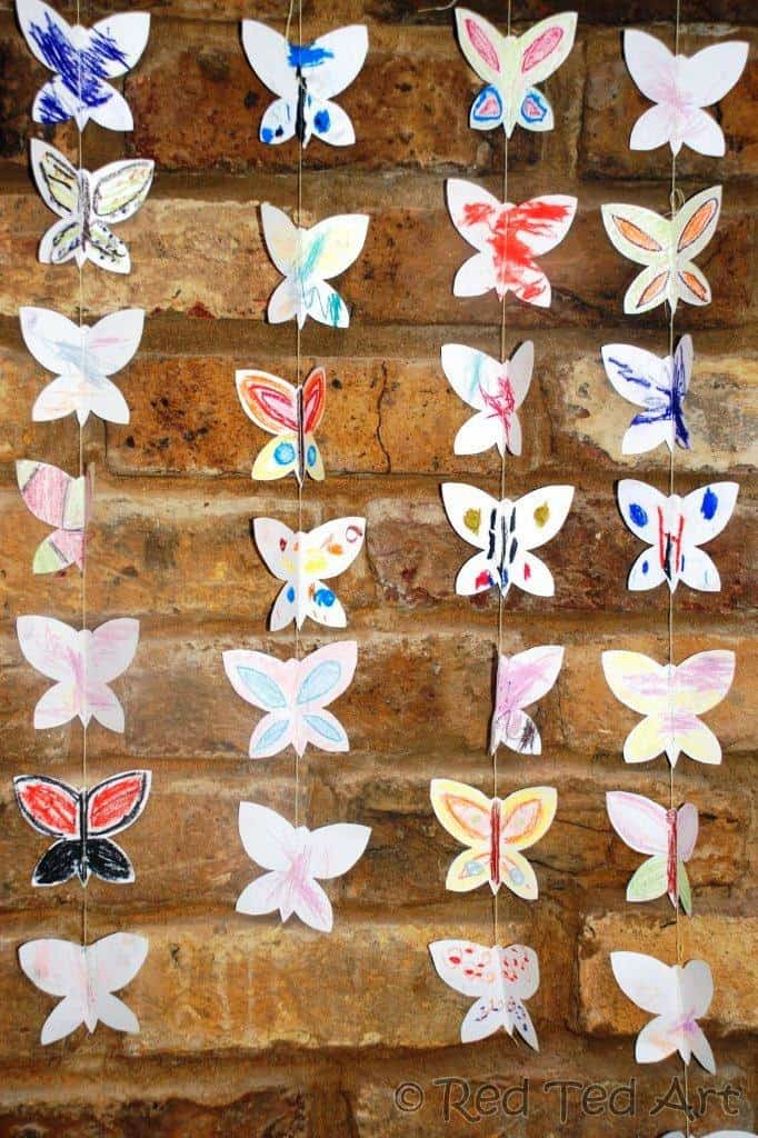 beautiful butterfly garlands
