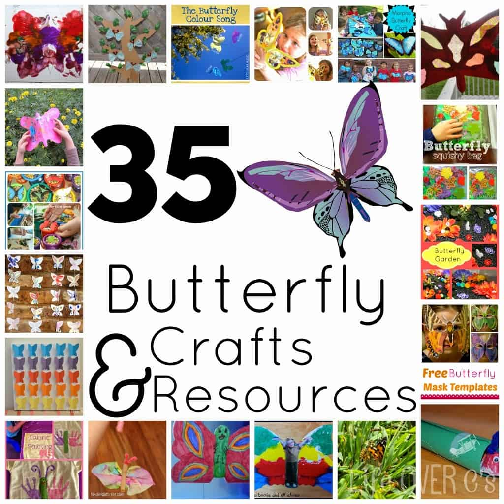 35 Butterfly Crafts and Resources for unit study