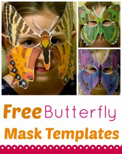 Free Butterfly Mask Template printable