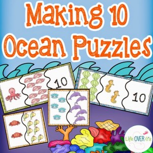 making 10 ocean puzzles kindergarten math activity