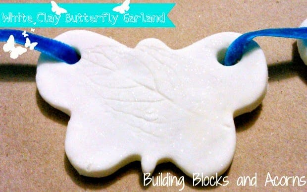 White Clay Butterfly Garland