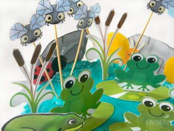 This free frog pond play dough set is great for learning about frog life cycles and habitats.
