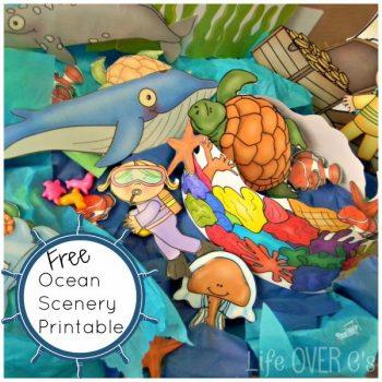 Ocean play dough printable