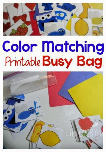 color matching busy bag for preschoolers and toddlers