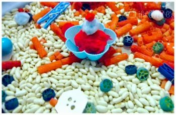fourth of july sensory bin