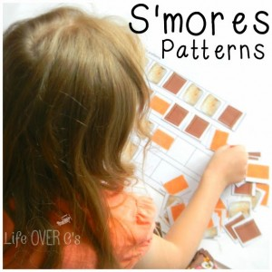 These S'mores patterns are a fun way to practice patterning concepts for preschoolers.