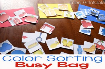 This printable matching color busy bag is the perfect activity for when you need some peace, but don't want to spend a lot of time prepping.