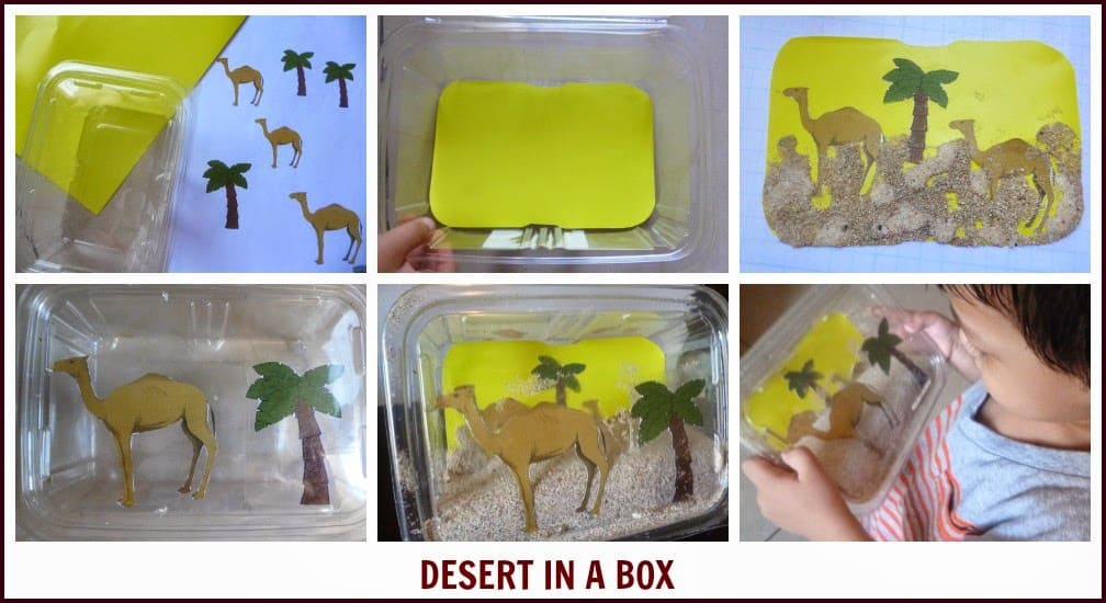 how to make desert in a box diorama