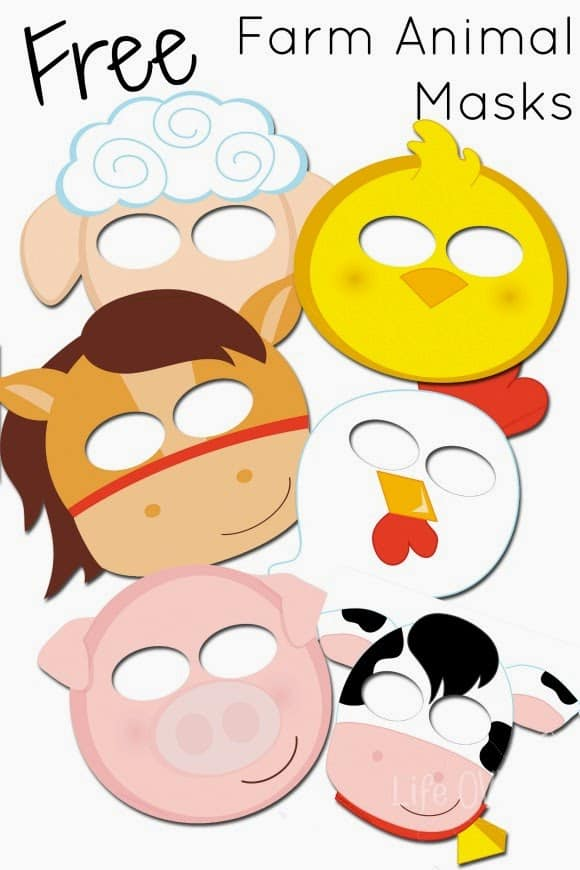 picture regarding Free Printable Masks called Absolutely free Printable Farm Animal Masks That Your Young children Will Appreciate