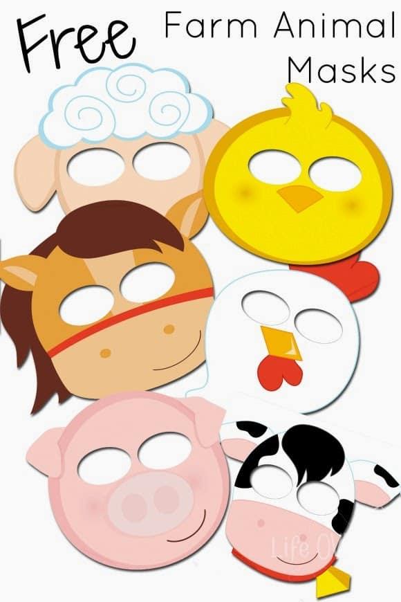 Free Printable Farm Animal Masks That Your Kids Will Love - Life ...