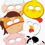 farm animal masks