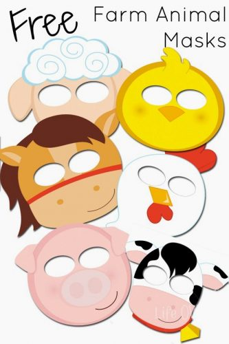 These free farm animal masks will add some extra fun to your farm unit!