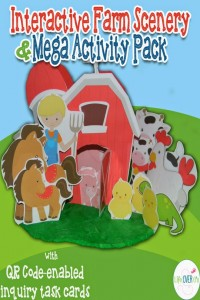 Play dough farm scenery