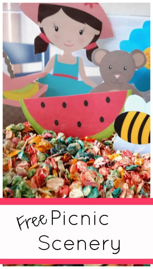 free picnic printable for sensory bins or play dough