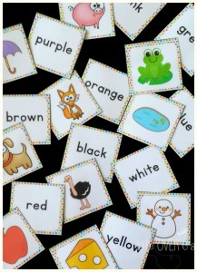 Free printables for color recognition