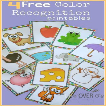 4 Free color recognition activities for your preschoolers.