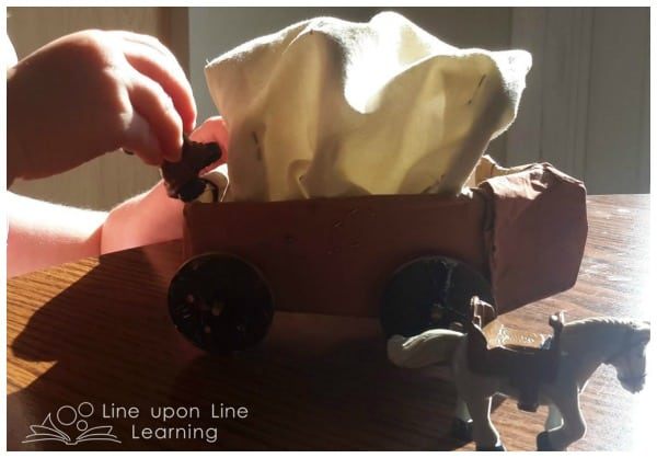 covered wagon craft for kids
