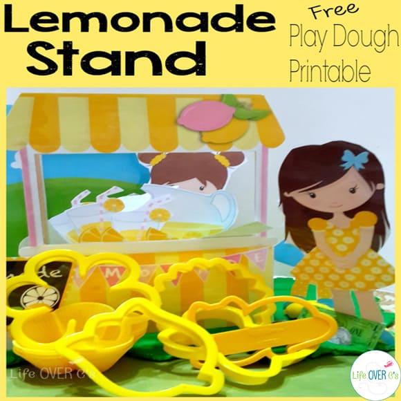 play dough lemonade stand