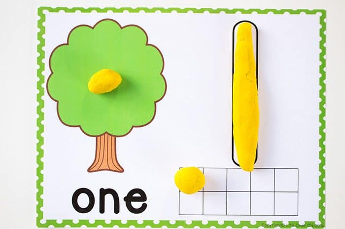 Free Printable Tree Play Dough Counting Mats 1 10
