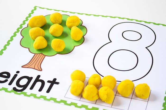 a929fd2bf4f7 Play dough number mats for numbers 1-10. These adorable number mats are  great