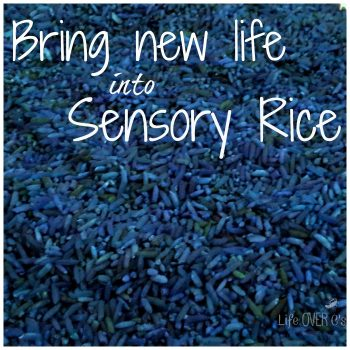 re-dye your rice for sensory activities