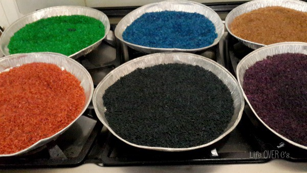 re-dyeing rice