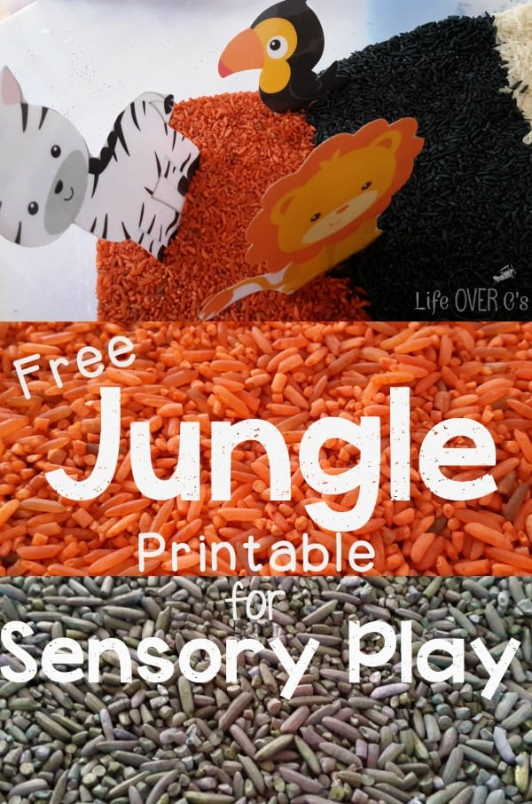 free jungle scene printables