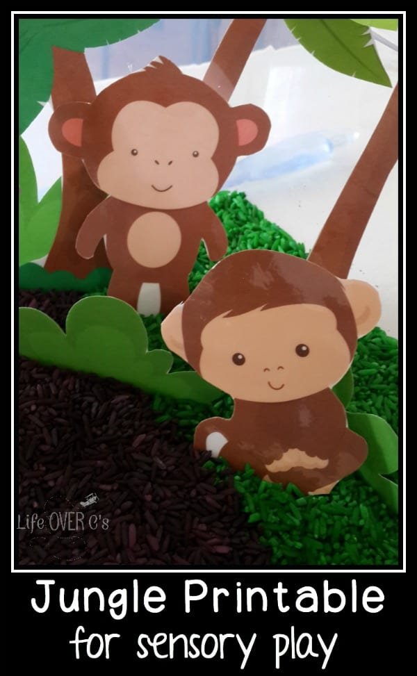 Jungle play dough printable